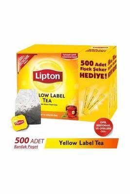 Lipton Bardak Poşet Yellow Label 500lü Fişek Şeker Hediyeli